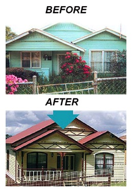 home relocation before and after